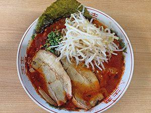 三男坊 長谷店 らー麺+激辛バージョン+もやし 842円